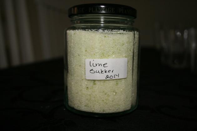 Lime sukker.