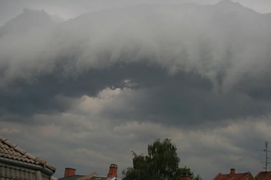 Uvejr på vej d. 5 Juli 2014.