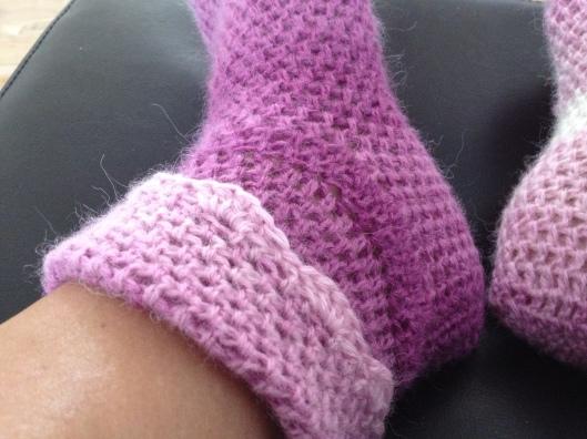 Hæklet sokker.