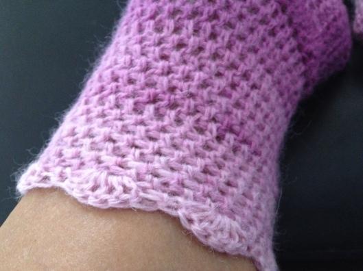 Hæklet sokkker . tungekant som jeg lavede til sidst.