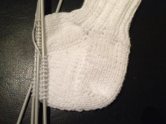 Min strømpe eller sok....hvad man nu vil kalde den og er ganske tilfreds med hælen.