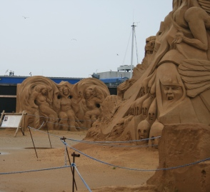 Sand skulpture i Hundested.