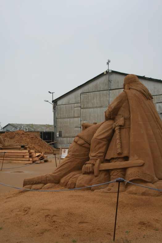 Sand skulpture i Hundested.