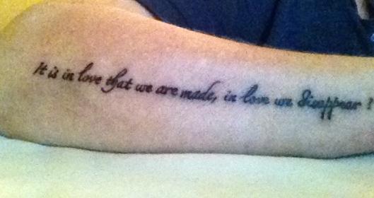 Min nye tus....med en Leonard Cohen linje.