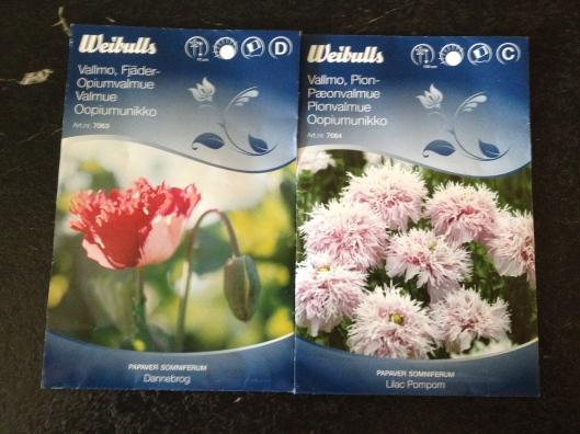 Første indkøb af frø til sommerens blomster :-)