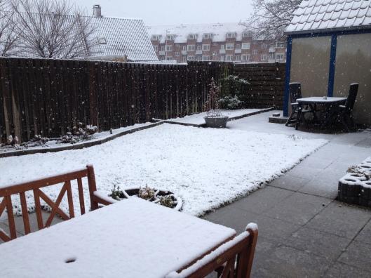 Sne d. 31 marts 2015.