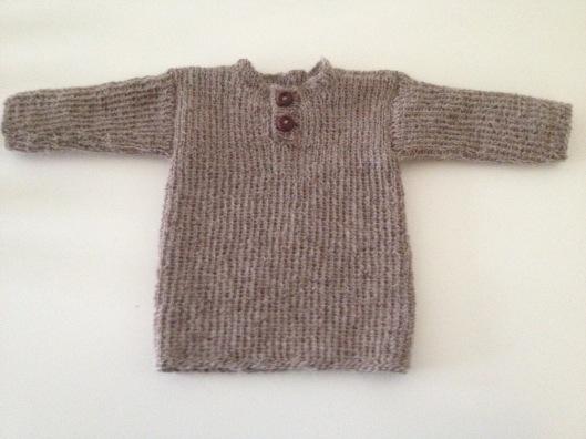 Baby trøje i alpaka uld.