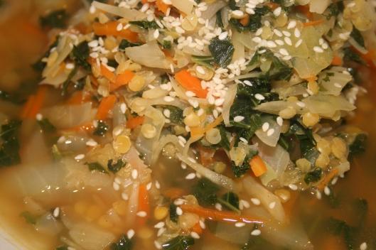Grønsagssuppe.