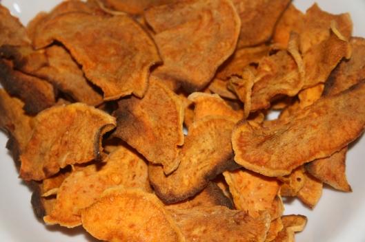 Søde kartoffel chips