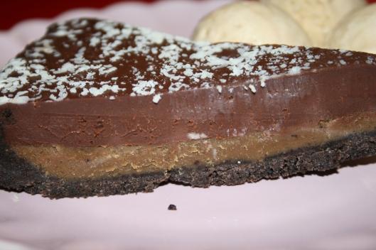 Chokolade karamel Oreo pie.