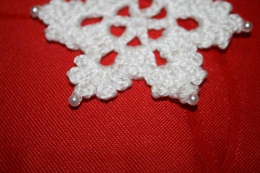 Hæklet snefnug - Crochet snowflakes