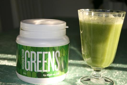 Grøn juice og GREENS