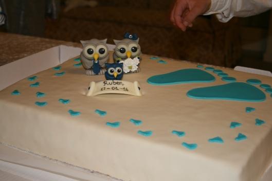 Dåbs kage fra bageren.